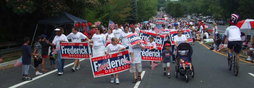 Team Frederick at 4th of July Parade